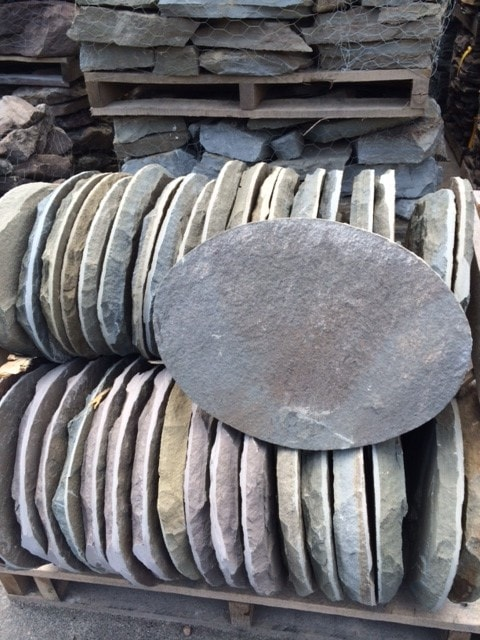 Bluestone Oval Stepping Stones New England Silica Inc