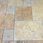 Gold Travertine French Pattern