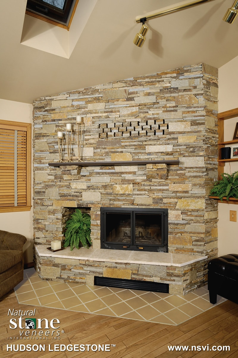 Natural stone veneers new england silica inc for Stonecraft fireplaces