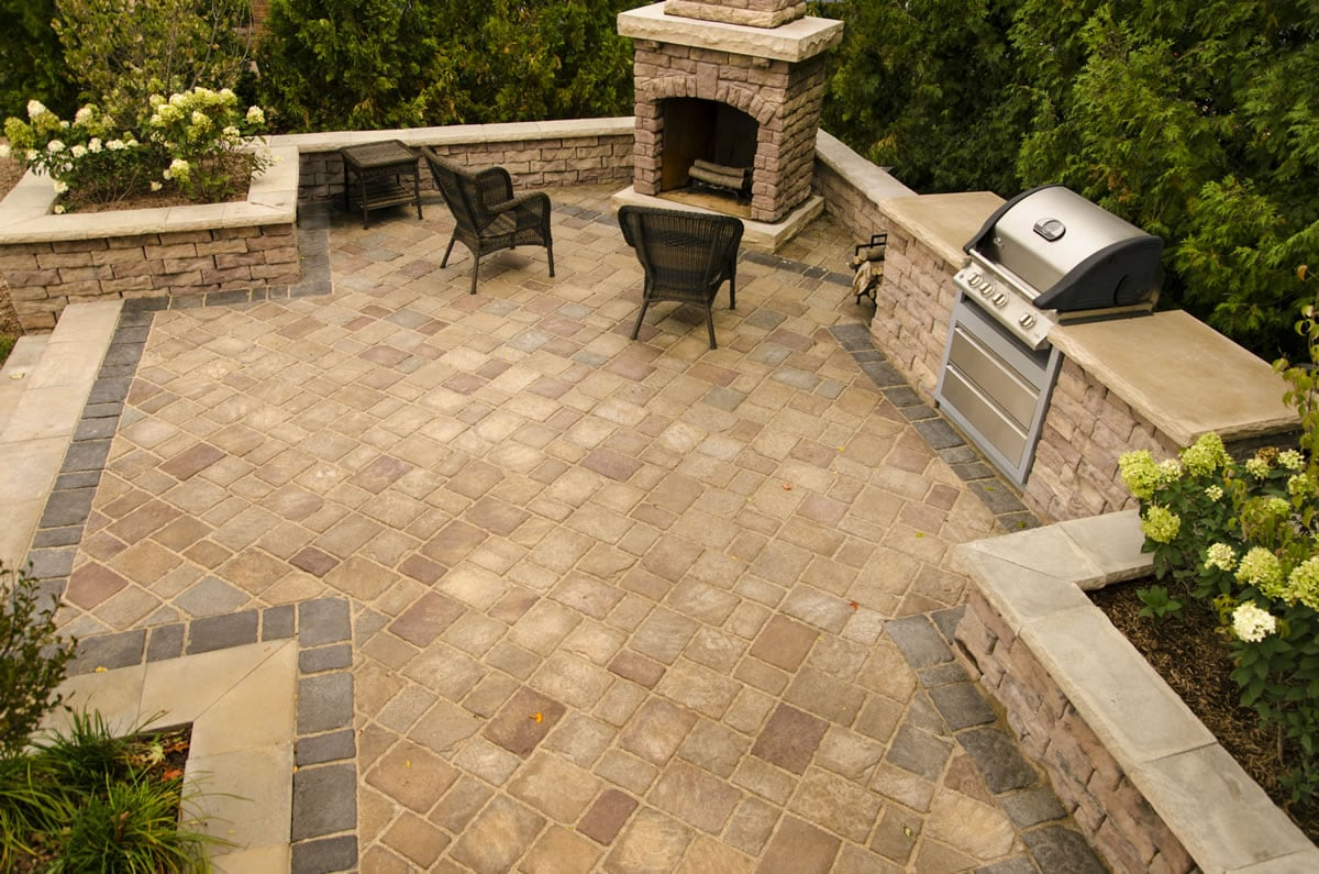 Rosetta Hardscape interlocking pavers & walls available at New ...