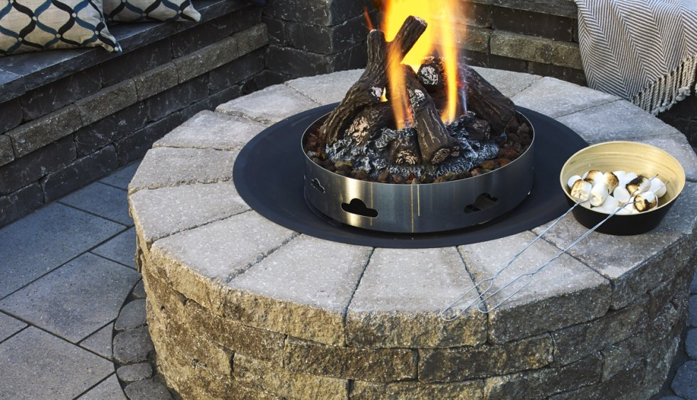 Techo Bloc Fire Pits Are Sold As Kit Block Insert