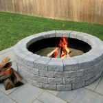 Unilock fire pits are sold as kit (block & insert)
