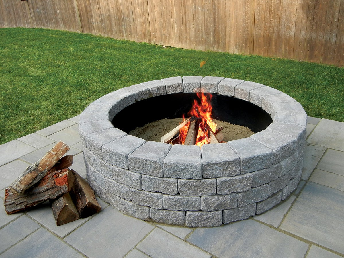 Unilock Fire Pits Are Sold As Kit Block Insert