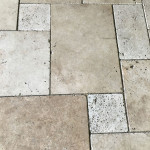 White Travertine French Pattern