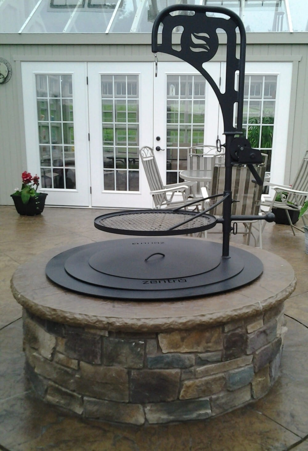 dp above or ground inside sunnydaze duty garden heavy patio liner rings diy outside decor ring lawn pit x fire amazon ca inch in