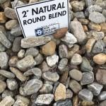 2-inch Natural Round Blend