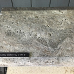 Silver Travertine Bullnose Coping