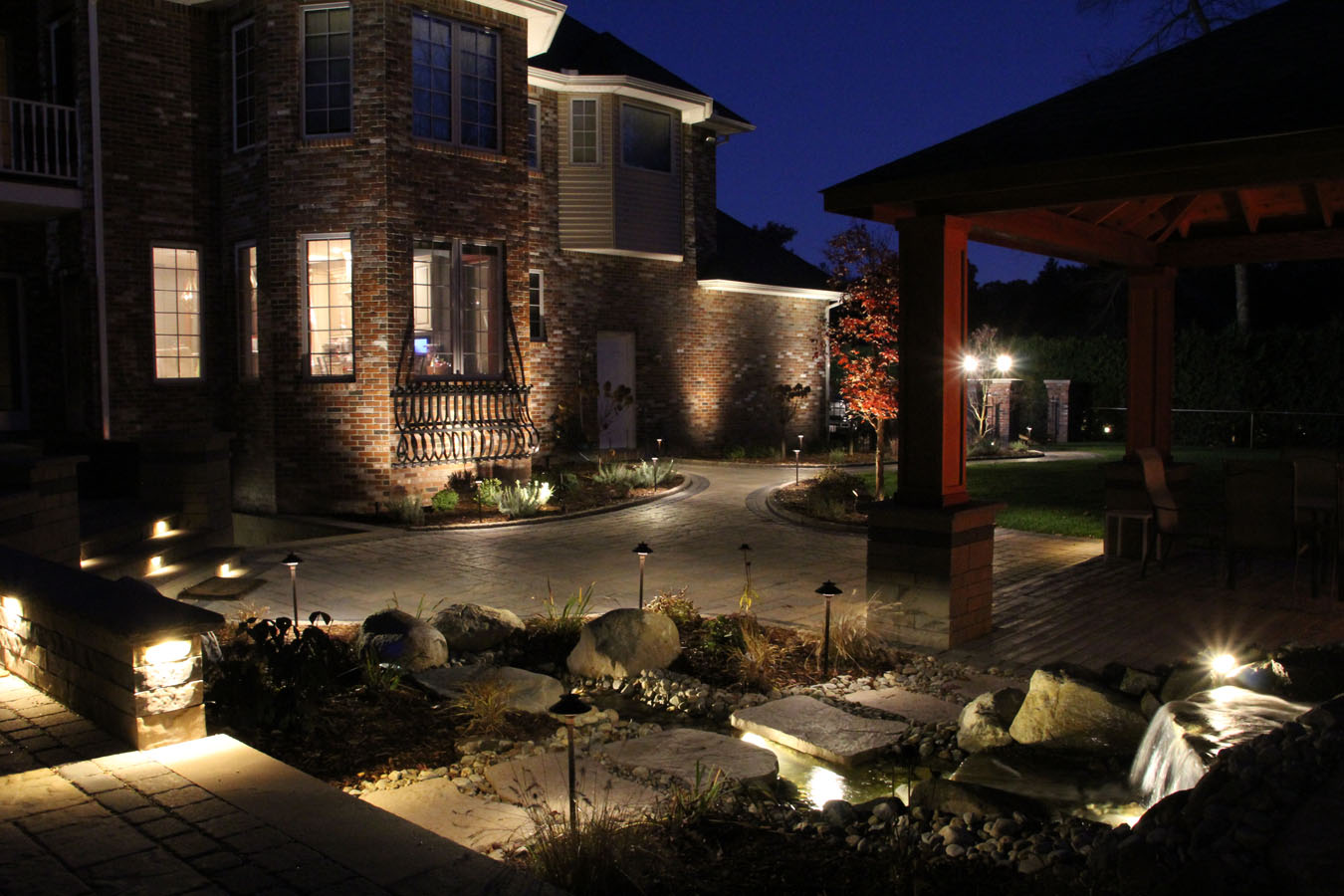 Outdoor lighting water projects by area contractors new england of the great outdoor lighting and water feature projects completed with our materials click on any image to enlarge and browse through the photos aloadofball Images