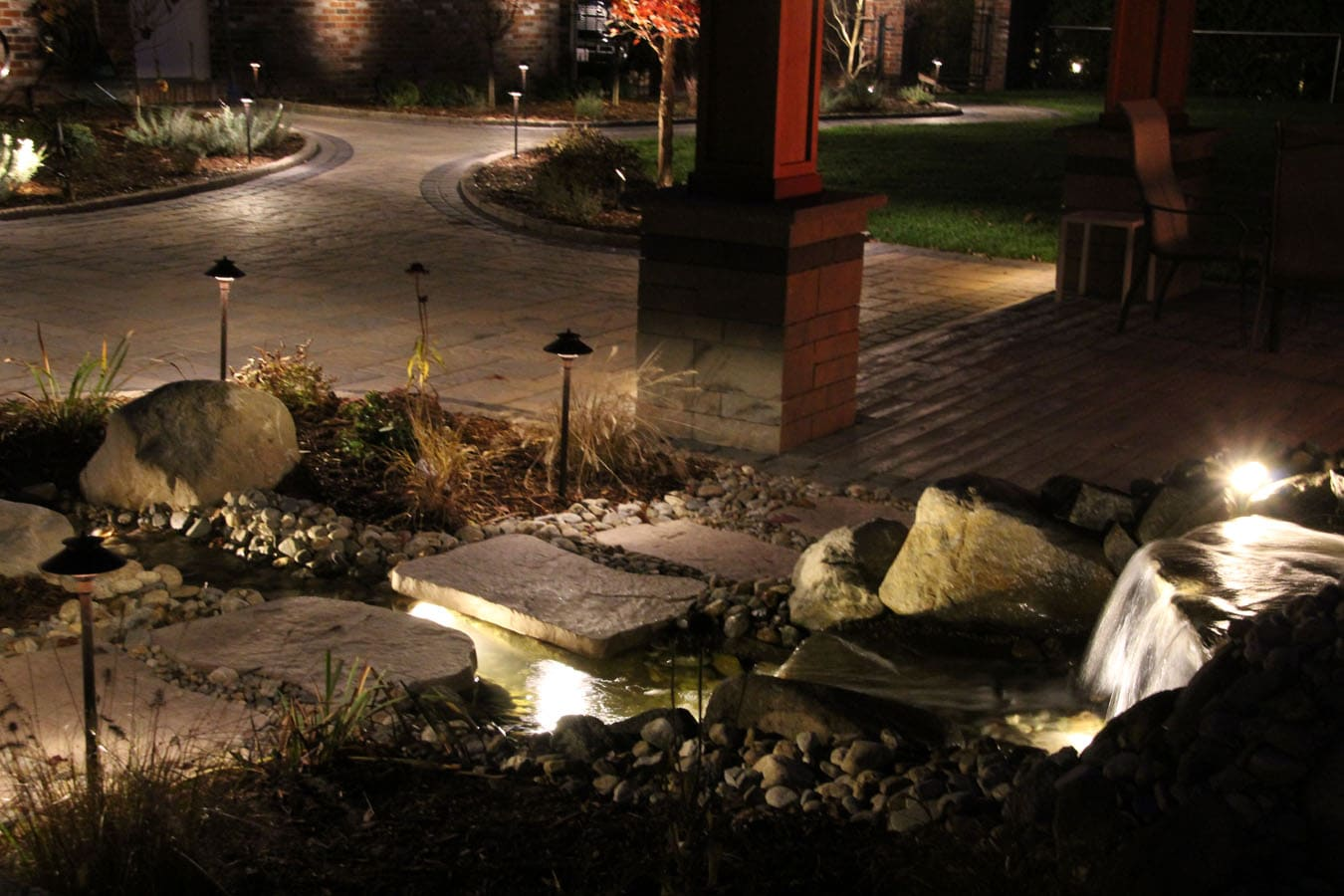 Outdoor lighting water projects by area contractors new of the great outdoor lighting and water feature projects completed with our materials click on any image to enlarge and browse through the photos mozeypictures Gallery