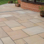 Autumn Brown Sandstone Patio