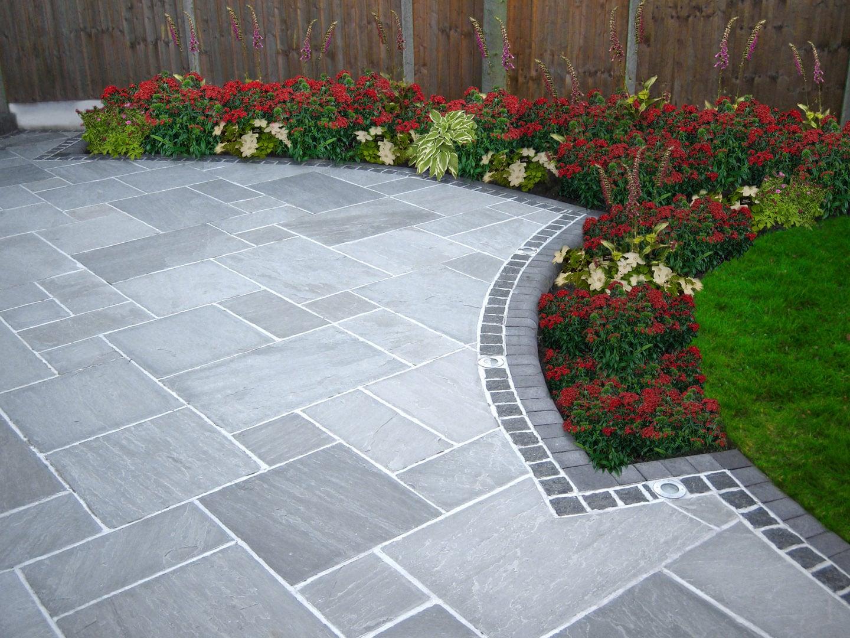 Flagstone and bluestone new england silica inc for Back garden paving designs