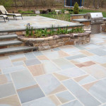 Full Color Thermal Bluestone Patio