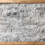 Silver Travertine Ledger Panel