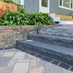 Dark Gray / Oxford Blue Granite Steps