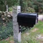 Engraved Granite Mailbox Post